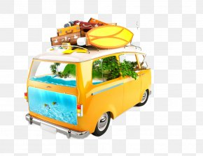 Travel Yellow Van - Vacation Travel Recreation PNG