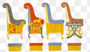 Hand-painted Picture Of Ancient Egypt Emperor Seat - Ancient Egypt Furniture Ancient History PNG