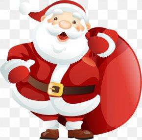 Santa Claus Christmas Vector Material - Santa Claus Reindeer Christmas Card PNG