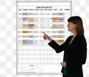 Sales Tracking - Dry-Erase Boards Car Dealership Magnatag Business PNG