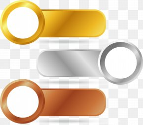Gold And Silver Copper PPT Label - Metal Label Silver Copper Gold PNG