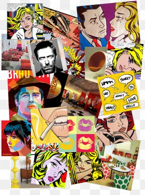 Comic Pop Art - Roy Lichtenstein M-Maybe Pop Art Text PNG