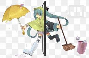 Hatsune Miku - Hatsune Miku Vocaloid Umbrella Character PNG