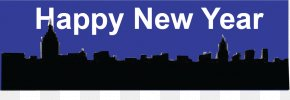 Download Free Images Png Happy New Year Banner - New Year's Day New Year Card New Year's Eve PNG