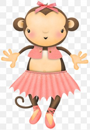 Pink Little Monkey - Pink Monkey Clip Art PNG