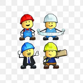 Civil Engineering - Cartoon Construction Worker Architectural Engineering Laborer PNG