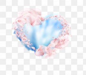Romantic Fantasy Petal Blue Sky Background - Petal PNG