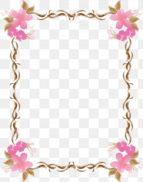 Pink Lace Border Photo Frame Angle - Pink Download Angle PNG