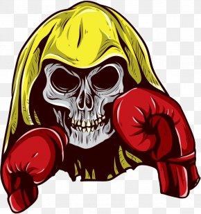 Boxing Skull - Boxing Glove Skull PNG