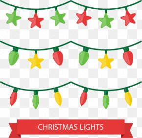 Three Rows Of Holiday Lights - Christmas Lights Euclidean Vector Christmas Lights PNG