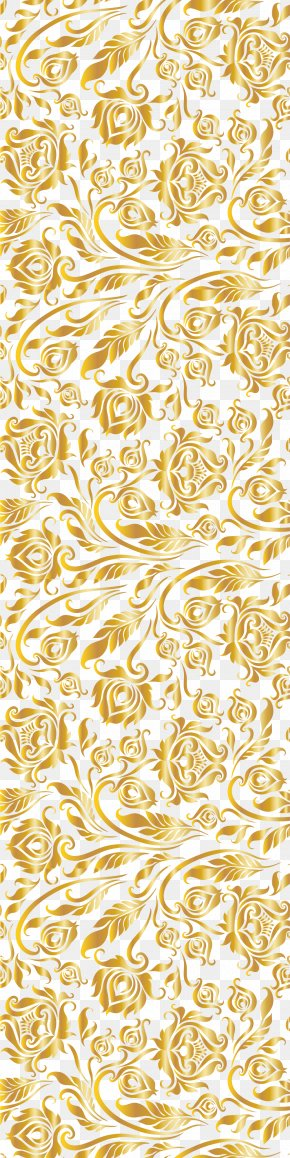 Luxury Golden Flower - Guimarães Paper Flower Pattern PNG