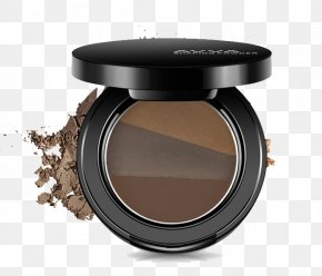 Round Eyebrow Color Makeup Box - Eyebrow Cosmetics Make-up Powder PNG