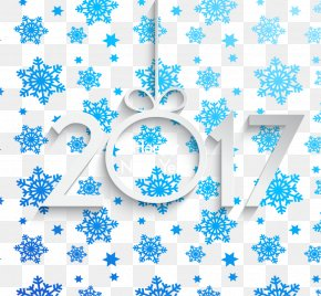Gradient Blue Snowflake Background 2017 - Blue Snowflake PNG