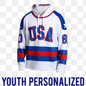 Miracle On Ice Hoodie United States National Men's Hockey Team Ice Hockey At The Olympic Games Sports Fan Jersey PNG