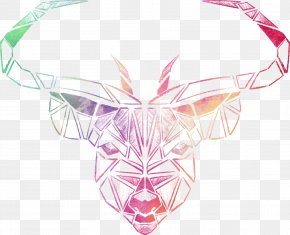 Vector Hand-painted Watercolor Cow - Red Deer Euclidean Vector Tiger Antler PNG