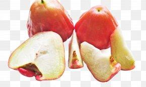 Wax Apple Slices - Java Apple Juice Syzygium Jambos Pomegranate PNG