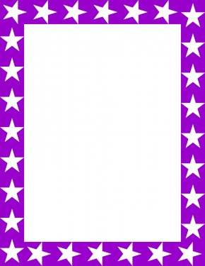 Star Purple Cliparts - Picture Frame Free Content Website Clip Art PNG