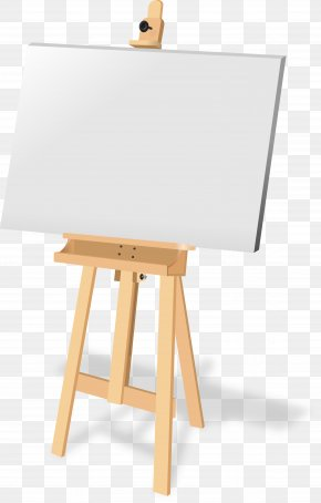 Painting - Easel Canvas Painting PNG