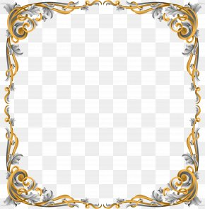 Vector Hand Painted Flower Borders - Haggadah Picture Frame Ornament Clip Art PNG