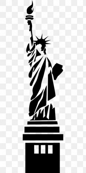 Statue Of Liberty Drawing Silhouette - Statue Of Liberty National Monument Clip Art Vector Graphics PNG