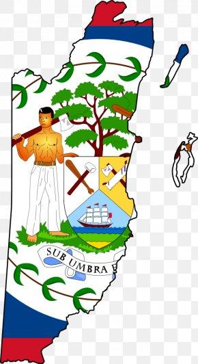 Map - Flag Of Belize Map National Flag British Honduras PNG