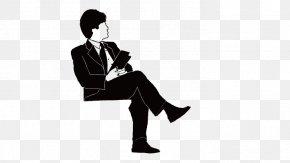 Man Sitting - Sitting Manspreading Icon PNG