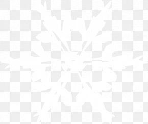 Snowflake Image - Black And White Point Angle Pattern PNG