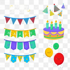Birthday Party Decorations - Birthday Cake Party Clip Art PNG