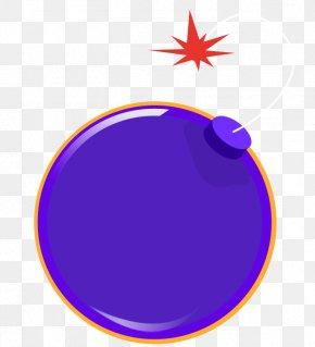 Purple Flat Bomb - Bomb Land Mine Gratis PNG