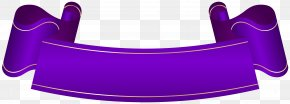 Purple Banner Transparent Clip Art - Banner Purple Clip Art PNG