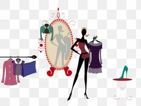 Mirror Before The Test Equipment - Fashion High-definition Television Model Wallpaper PNG