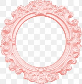 Pink Mirror - Picture Frame Mirror Clip Art PNG