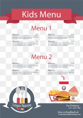 Special Menu For Children's Food - Menu Kids Meal Restaurant Outline Of Meals Food PNG
