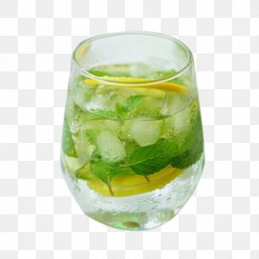 A Glass Of Lemonade - Mojito Cocktail Lemonade Carbonated Water PNG