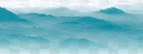 Mountain Peak - Blue Sky Turquoise Wallpaper PNG