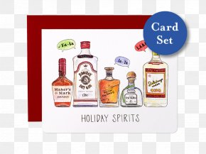 Valentine's Day Greeting Card Material - Liqueur Holiday Greeting & Note Cards Gift Distilled Beverage PNG