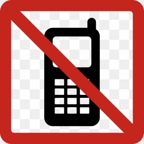 Printable No Cell Phone Sign - Telephone Call Pager Text Messaging Briefcase Clip Art PNG