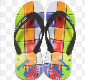 Color Stitching Sandals - Flip-flops Icon PNG