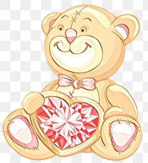 Heart Cheek - Teddy Bear PNG