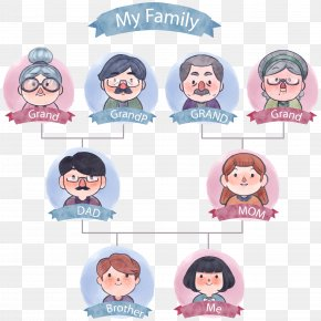 Vector Tree Of Watercolor Tree - Family Tree Icon PNG