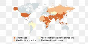Around The World - World Map United States Capital Punishment Death Row PNG