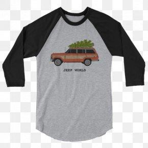 Creative Holiday T-shirt Mockup - T-shirt Raglan Sleeve Hoodie PNG