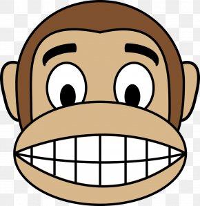 Emoji Face - Ape Chimpanzee Monkey Clip Art PNG