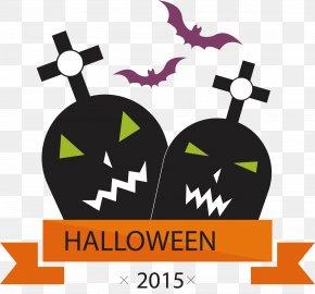 Bats And Tombstones - Halloween Jack-o'-lantern Download Clip Art PNG