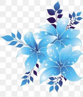 Blue Flower Border - Blue Flower Blue Flower Clip Art PNG