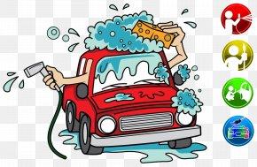 Cartoon Car Wash Advertisement - Car Wash Cartoon Clip Art PNG