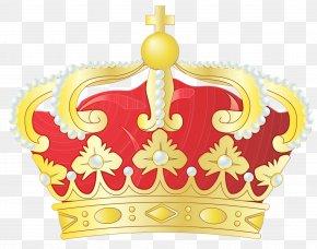 Yellow Queen Annemarie Of Greece - Queen Crown PNG