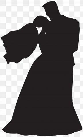 Wedding Couple Silhouette Clip Art - Dance Silhouette Couple Clip Art PNG
