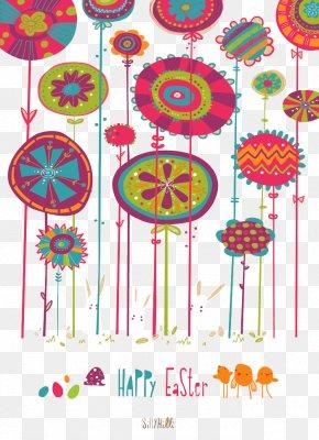 Creative Design Flowers Greeting Card - Greeting Card Cartoon Illustration PNG