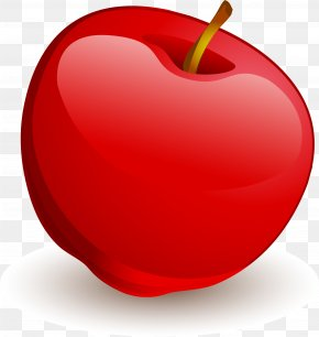 Vector Painted Red Apple - Love Heart McIntosh Laboratory PNG